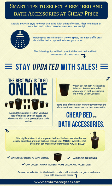 Smart tips to select a best bed and bath accessories at cheap price | amberhomegoods | Scoop.it