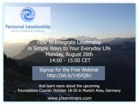 Personal Leadership Webinar - free | Mindful Leadership & Intercultural Communication | Scoop.it