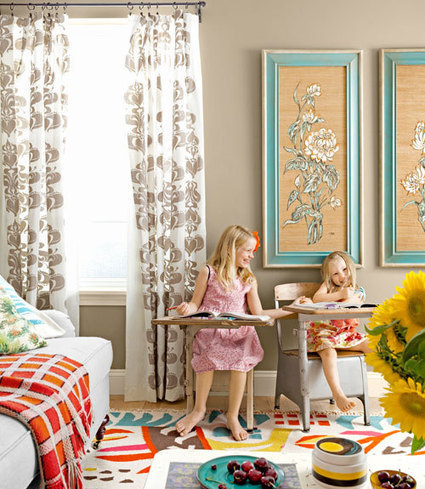Mix and Chic: Home tour- A textile designer's colorful home! | homedecor | Scoop.it