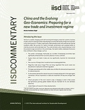 China and the Evolving Geo-Economics: Preparing for a new trade and investment regime | Sustainable Development | Scoop.it