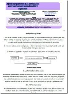 Aprendizaje motor. Las habilidades motrices básicas - recursos infantil | Praxiología motríz | Scoop.it