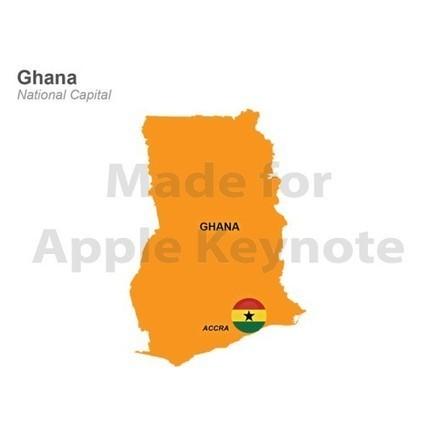 Ghana Map for Apple Keynote Template | Apple Keynote Slides For Sale | Scoop.it