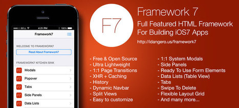 Framework7 - Full Featured HTML Framework For Building iOS7 Apps | JavaScript for Line of Business Applications | Scoop.it