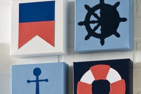 DIY Nautical Canvases Are The Perfect Way To Savor The Last Weeks Of ... - Huffington Post | Crafts I like | Scoop.it