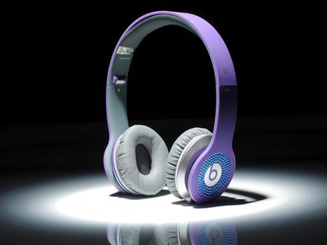 Eye-catching Beats by Dr. Dre Solo Diamond Blue Headphones Purple_hellobeatsdreseller.com | Monster Beats Solo | Scoop.it