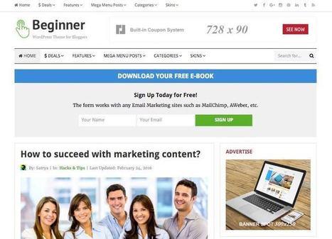 Beginner WordPress Theme for Affiliate Marketer & Bloggers   Free Premium WordPress Themes   Scoop.it