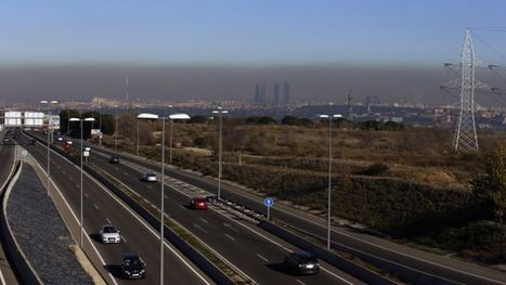 """Choking in car fumes, Madrid locals curse pollution (""""diesel fuel and too many cars = dirty air"""") 