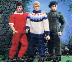 Vintage knitted doll patterns available from The Retro Knitting Company | Playscale Picks | Scoop.it