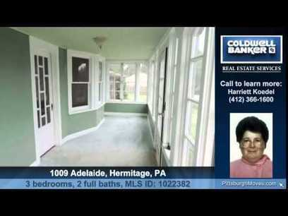 Homes for sale 1009 Adelaide Hermitage PA 16148 Coldwell Banker Real Estate Services | Real Estate and Property | Scoop.it