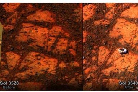 La storia della roccia su Marte che prima non c'era (FOTO) | Beezer | eventi | Scoop.it
