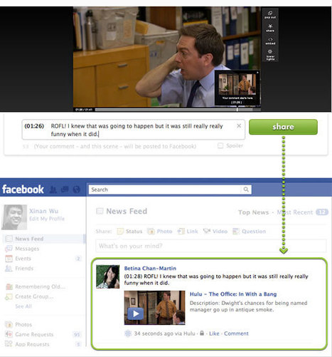 Hulu Integrates with Facebook for Social TV | Signal News | Second Screen | Scoop.it
