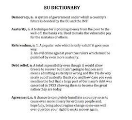 Diccionario de la UE (actualización). Vía @davidschneider | Política & Rock'n'Roll | Scoop.it