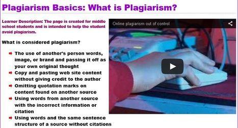 Plagiarism Scavenger Hunt | Ethical Use of Information | Scoop.it