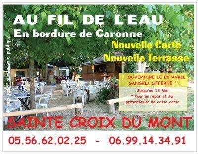 Au Fil De L'eau à Sainte Croix Du Mont | Guinguettes à Bordeaux et en Gironde | Scoop.it