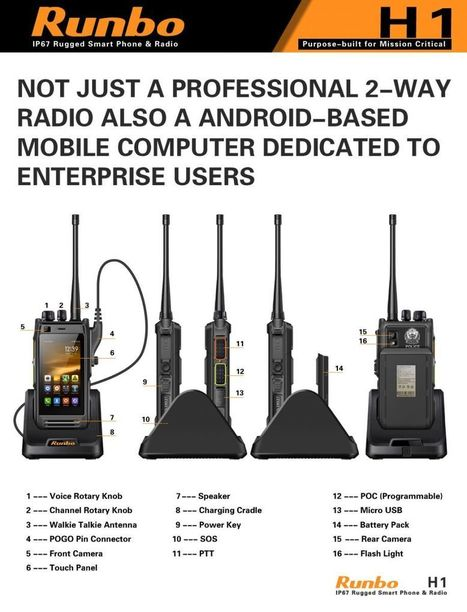 Runbo H1 4G 2-way UHF radio and Android enterprise PDA | Mobile and wireless computing | Scoop.it