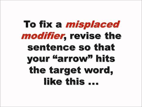 Grammar Bytes! Presents :: Finding and Fixing Misplaced and Dangling Modifiers | Reading and Writing and Literature | Scoop.it