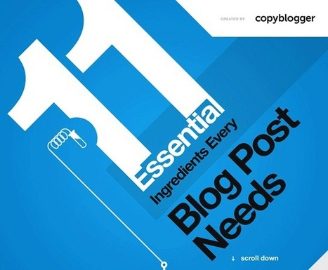 11 Essential Ingredients Every Blog Post Needs [Infographic] | Social Media, the 21st Century Digital Tool Kit | Scoop.it