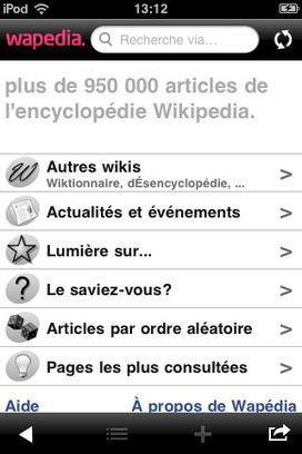 Wikipedia : 5 applications gratuites sur iPhone | Time to Learn | Scoop.it