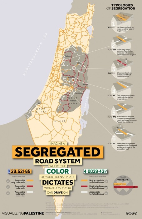 On Israel's system of segregated roads in the occupied Palestinian territories | Histoire geo Terminale (programmes 2012) | Scoop.it