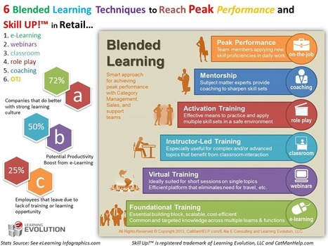 6 Blended Learning Techniques Infographic - e-Learning Infographics | IKTak | Scoop.it