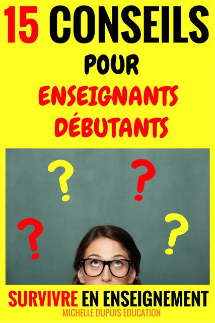 Michelle Dupuis Education: 15 CONSEILS pour enseignants débutants | POURQUOI PAS... EN FRANÇAIS ? | Scoop.it