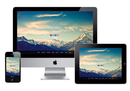 Parallax WordPress scrolling & single-page theme | Free Premium WordPress Themes | Scoop.it