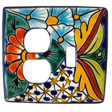 Talavera Combo Switch PLate | Hand Painted Tiles and Talavera Pottery | Scoop.it