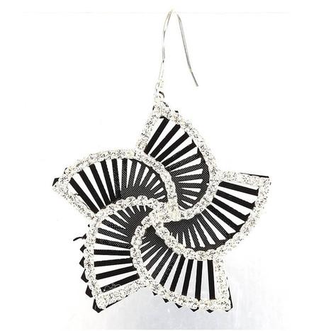 Beautiful Black Bauhinia Crystal Ear Rings Cool Ladies Earring | women fashion accessories | Scoop.it