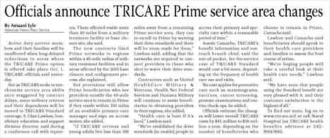 Officials announce TRICARE Prime service area changes | Navy Sitrep | Scoop.it