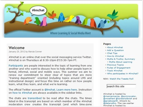 #lrnchat is an online chat over the social messaging service Twitter. | Career-Life Development | Scoop.it