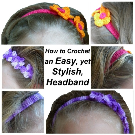 How to crochet a headband, easy and stylish | crafts | Scoop.it