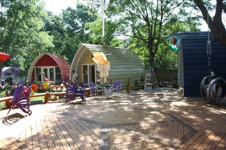 Quick to Construct Arched Cabins | Living Little | Scoop.it