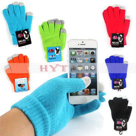 Smart Stretchable Capacitive Touch Screen Knit Gloves for Any Touch Screen Devices Unisex | How to save more money and time | Scoop.it