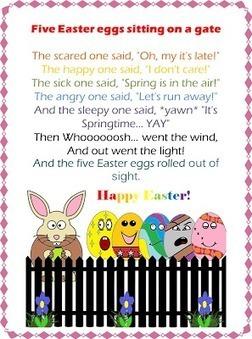 ESL/EFL Preschool Teachers: Fingerplays for Easter | kindergarten fingerplays | Scoop.it