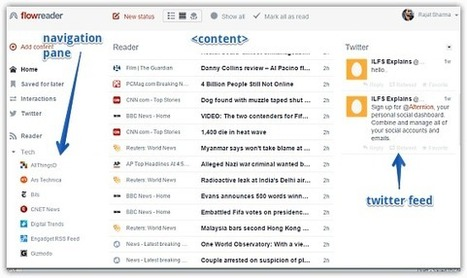 FlowReader: Free Online RSS Reader That Also Shows Twitter Feeds | Time to Learn | Scoop.it