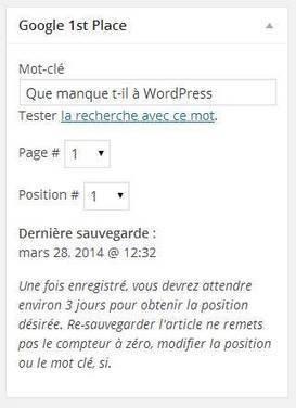 Google 1st Place : LE plugin SEO - BoiteAWeb.fr | Réferencement web | Scoop.it