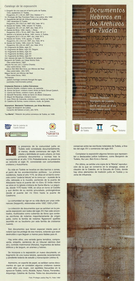 06-2008 Exposition of Hebrew documents  from the archives of Tudela of Navarre   Michael Servetus. Discovered  new works and true Identity. Proofs, lectures and International Congresses.   Scoop.it