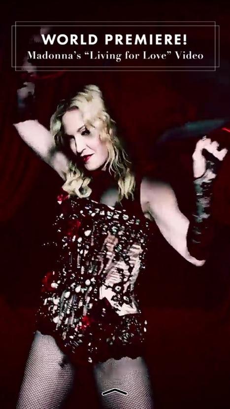 Snapchat accueille le nouveau clip de Madonna en avant-première - FrAndroid | Veille Pub Actu & Buzz | Scoop.it