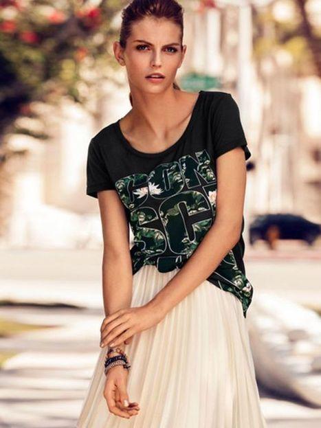 Letters Print Short Sleeve Loose T-shirt : KissChic.com | Kisschic Fashion Dresses | Scoop.it