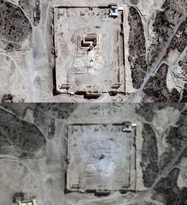 Syrie. Images satellite de Palmyre: le temple de Baal a été détruit Courrier International | Kiosque du monde : Asie | Scoop.it