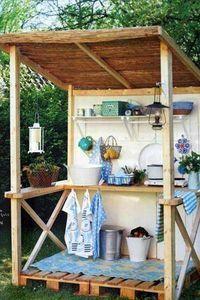 Une cuisinette dans le jardin avec des palettes | Palettes | Scoop.it