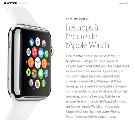 Les apps à l'heure de l'Apple Watch | Machines Pensantes | Scoop.it