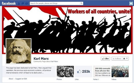 Karl Marx on Facebook. What is the ideology of your social network? | Haute Culture Internet | Scoop.it