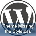 The Theme is Missing the Style.css Stylesheet: The Solution   Web Hosting   Scoop.it