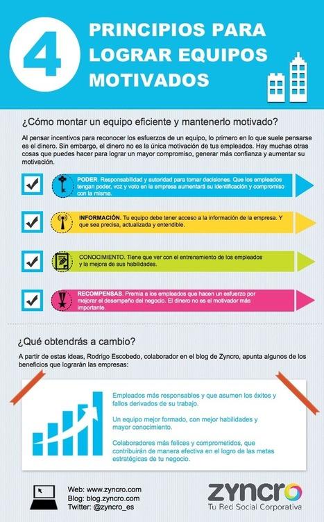 4 principios para lograr equipos motivados #infografia #rrhh #pymes   Empresa 3.0   Scoop.it