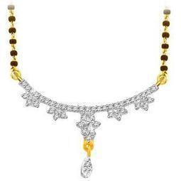 Sparkles Gold & Diamond Mangalsutra with Gold plated Silver Chain | Jewellery | Scoop.it