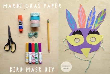 Celebrate Mardi Gras at home with these great DIY masks for kids - Cool Mom Picks | Craft Ideas | Scoop.it