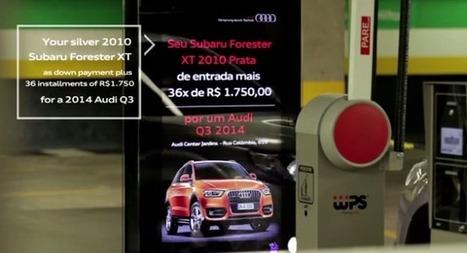 Brésil : La campagne d'activation DOOH d'Audi dans un parking - Ooh-tv | Brasil - Brazil | Scoop.it