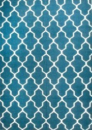 Rugsville Moroccan Trellis Teal Blue Wool 13651 Rug - KILIMS | Modern and Contemporary Rugs | Scoop.it