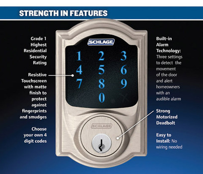 The Convenience of Using a Schlage Touchscreen Deadbolt at Mr. Locksmith Vancouver | Security | Scoop.it
